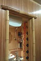 Бамбук в коридоре ( наличник-бамбуковый ствол)Поклейка Тернопіль