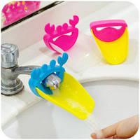 Насадка - удлинитель для водопроводного крана Краб голубой с желтой площадкой