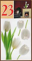 Наклейки на стену Белые тюльпаны размер 50 х 70 см