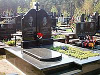 Памятник гранитный на могилу двойной с крестом
