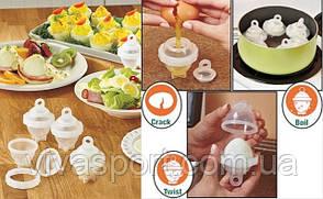 Яйцеварка - формы для варки яиц без скорлупы Eggies Эггис
