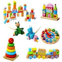 Деревянные обучающие и развивающие игрушки