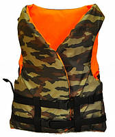 Спасательный камуфляжный жилет + оранжевый.