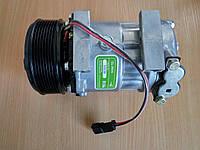 Компрессор для кондиционера JCB CL7H15 12V c фланцевым расположением выходов  шкив  8PV 124 мм