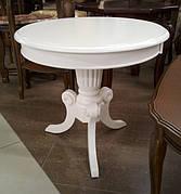 Чайный круглый столик Moon, белый