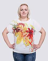 Женская футболка большие размеры Дама, фото 1