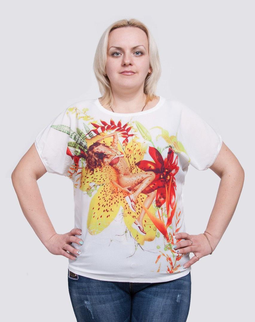 Женская футболка большие размеры Дама