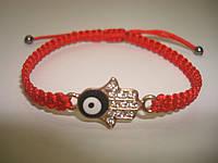 Красная нить Каббала с оберегом «Хамса, Рука Фатимы», фото 1