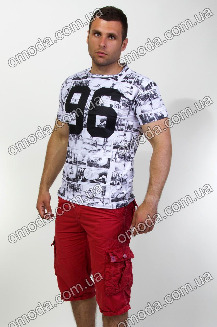 Мужские однотонные шорты с карманами