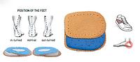 Подпяточники DAGA женские при варусном и вальгусном искривлении ноги