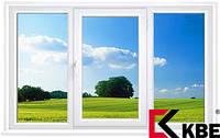 Окно металлопластиковое KBE 58 мм