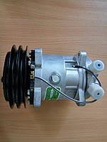 Компрессор для кондиционера универсальный 5H14  Шкив 2А, 152mm с сервисными клапанами