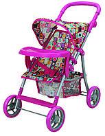 Прогулочная коляска для куклы с бампером Milana розовая