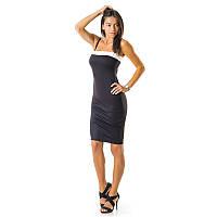 Платье обятягивающее черное 002PLblack