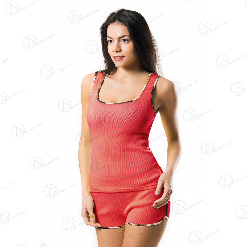 Женский комплект Украина  цвета Коралла K053corall
