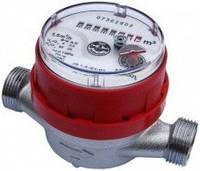 Счетчик воды (водомер) одноструйный, тип JS, Ду-15, для горячей воды муфтовый, PoWoGaz-Польша