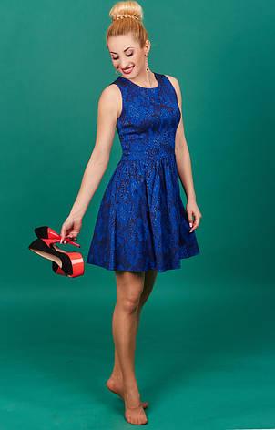 Стильное синие молодежное платье, фото 2