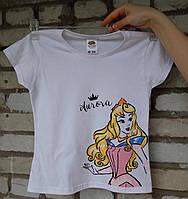 """Дитяча футболка ручного розпису """"Спляча красуня"""", фото 1"""