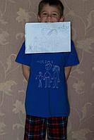 Дитяча футболка ручного розпису з малюнком вашої дитини