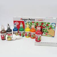 Краски для пальцев 8цв*30мл