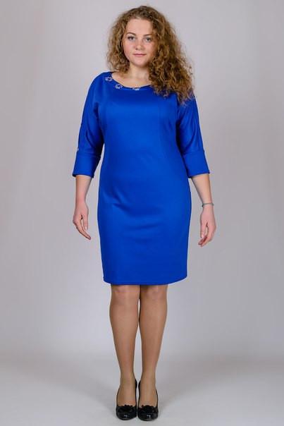 1224ab618208e0f Трикотажное платье большого размера купить в интернет магазине ...