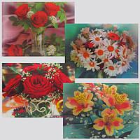 """Подставка под горячее """"Цветы"""", комплект 6шт., микс 4 дизайнов (цена за комплект)"""