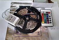Комплект. Светодиодная лента rgb 2835 ip33 +пульт+контроллер.