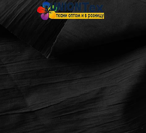 Вельвет костюмный черный х/б, фото 2
