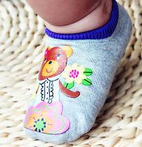 Носки - следы антискользящие Dear Baby Серые с мишкой
