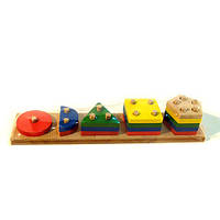 Пирамидка «Геометрик-счет» 5 фигур, Розумний Лис