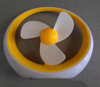 Настольный USB вентилятор DR - 2013 с аккумулятором желтый