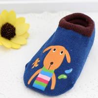 Носки - следы антискользящие Dear Baby Синие с собачкой