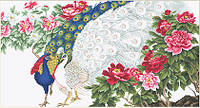 "Набор для вышивания гобелена ""Luca-S"" G462 Павлины в цветах"