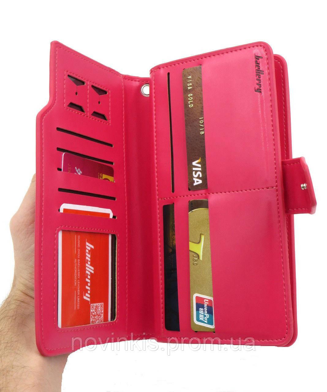 99630525d120 Клатч Женский, портмоне Baellerry Italy. Розовый - купить по лучшей ...