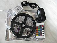 Полный комплект. Светодиодная лента rgb 2835 ip33 +пульт+контроллер+блок питания