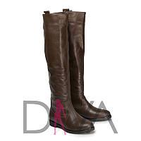 Сапоги женские кожаные демисезонные 9017brownd купить осенние сапоги в интернете