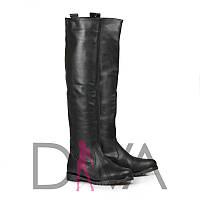 Сапоги женские кожаные демисезонные 9017blackd купить стильные сапоги осень 2017
