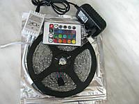 Полный комплект. Светодиодная лента rgb 2835 ip65 влагозащита +пульт+контроллер+блок питания
