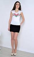 Нежная блузка - вышиванка с коротким рукавом