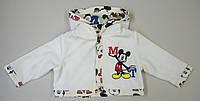 Курточка для новорожденных из велюра