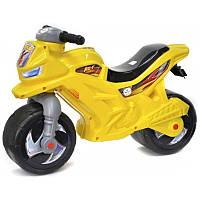 Детский мотоцикл - беговел желтый (501)