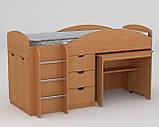 Универсал кровать чердак ДСП (Компанит) 892х1942х1060мм, фото 2