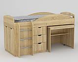 Универсал кровать чердак ДСП (Компанит) 892х1942х1060мм, фото 3