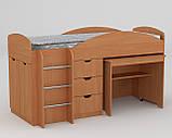 Универсал кровать чердак ДСП (Компанит) 892х1942х1060мм, фото 5