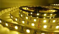 Светодиодная лента SMD 5050 ip33 60д/метр теплый белый