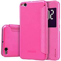 Кожаный чехол Nillkin Sparkle для HTC One X9 розовый