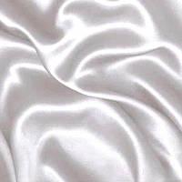 Атлас плотный коттон (королевский) - цвет белый