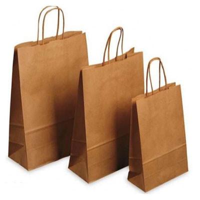 Бумажные пакеты с прямоугольным дном и ручками