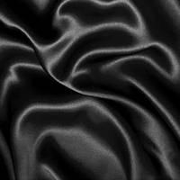 Атлас-стрейч - цвет черный