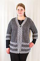 Красивая оригинальная ажурная женская кофта большие размеры., фото 1